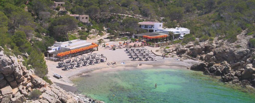 Localización Cala Gracioneta en Ibiza