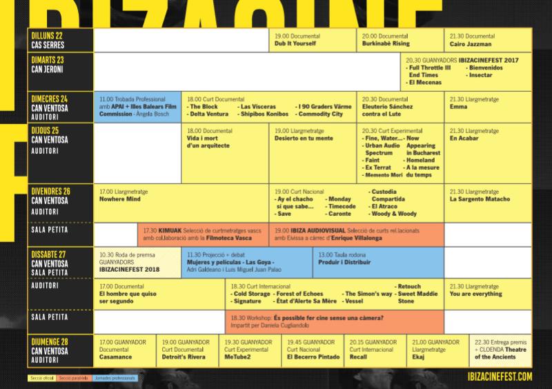 Cartel del programa Ibiza cine fest