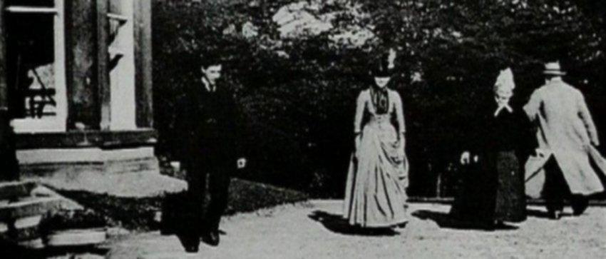La escena del jardín de Roundhay.