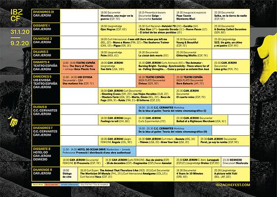 Programación Ibiza Fest